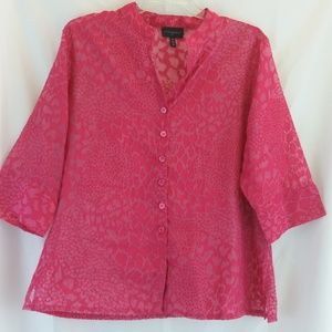 💥3 for $20💥 Investments Sheer Top     Size 18W